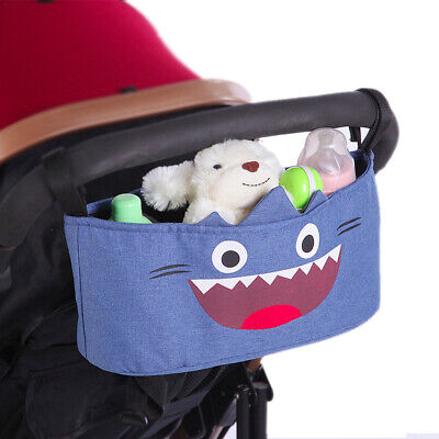 Storage Organizer Cute Large Capacity Baby Stroller Hanging Bag Nappies Clothes