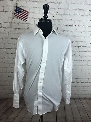 c70c295c5245 Brooks Brothers Men's White Regent Fit Supima Cotton Button Dress Shirt  16.5 33