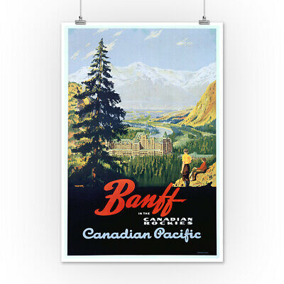Banff Canadian Pacific Trompf Vintage Ad (Posters, Wood & Metal Signs)