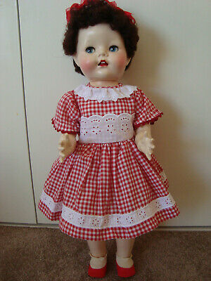 "Pretty 21"" hard plastic vintage Pedigree doll - MADE IN ENGLAND"