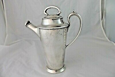 Vintage Cocktail Shaker Silverplate Art Deco Barware Hammered Monarch Plate