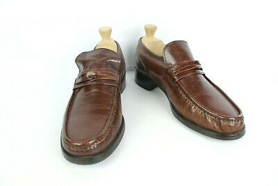 Mocassin Interco all Leather Brown Cognac 43 Good Condition