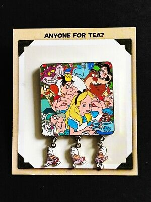 Disney Alice In Wonderland Anyone for Tea Baby Oysters Pin Artist Signed Sznerch