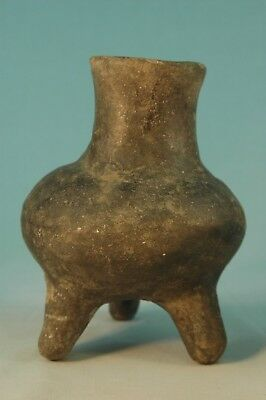 Authentic Mississippian Tri-leg Pottery Vessel Pictured in Who's Who #9
