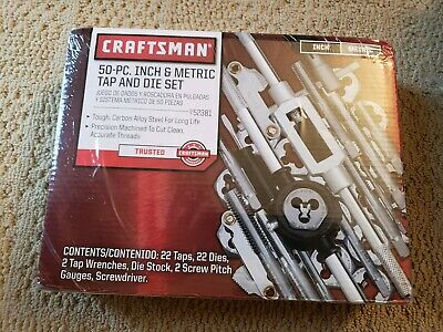 Craftsman Tap and Die 50 Pcs Mechanic SAE Metric Wrench New!! Sealed!!!!