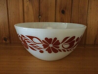 Vintage Retro Pyrex Bowl 1970s Floral Banner - Can Quote Postage