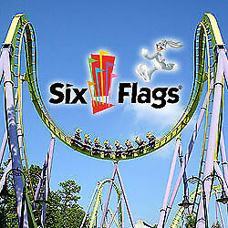 Lot of 4 Single day tickets for 2019 Six Flags Theme park or water park listed