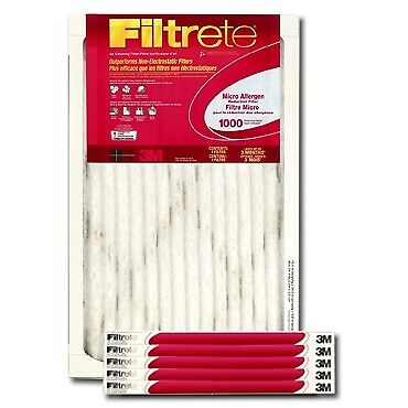 Filtrete 3M 16x25x1 Air Filter Replacement Micro Allergen Reduction #9801, 6Pk