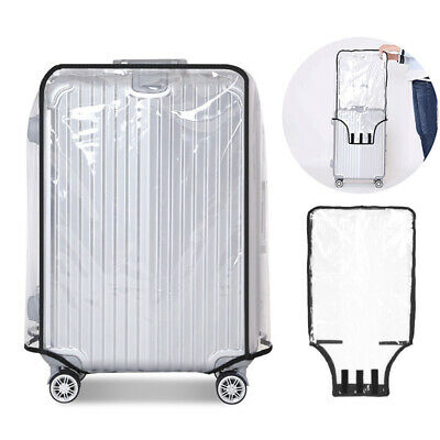 Waterproof Transparent Luggage Suitcase Cover Protective Travel Wear-resistan SU