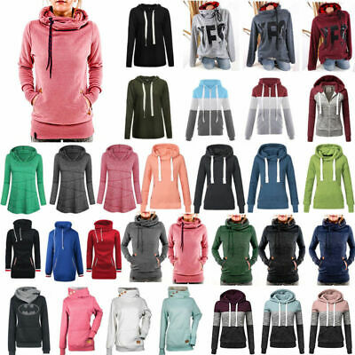 Winter Hoodie Women Hooded Sweatshirt Coat Jacket Lady Hoody Pullover Jumper Top