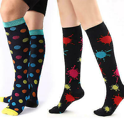 Sports Compression Socks Stockings Graduated Support Men's Women's Fit Latest