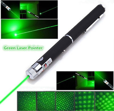 2In1 Ultra Bright Green Laser Pointer Portable Cat Toy Star Cap Visible Beam Pen