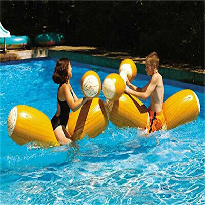 Pool Joust Set Float Inflatable Swim Game Gladiator Party Duel Battle Logs
