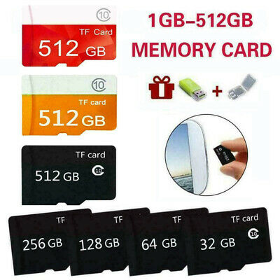 8/16/32/64/128/256/512GB Micro TF Flash Memory Card SD Karte HC Class 10 Phone