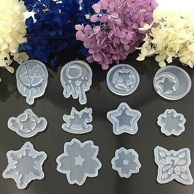 Silicone Resin Pendant Mold Tear Star Ornaments Handmade Making Mould Jewelry DE