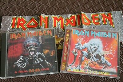 2 cd iron maiden a real dead one & a real live one premieres edition très rare!!