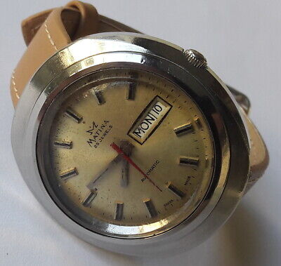 Vintage MATINA Automatic All Steel Day/Date 25jewels ETA2790 Swiss Made From70's