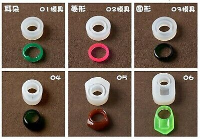 DIY Silicone Handmade Ring Mold for Resin Epoxy Jewelry Making Craft Tool DE
