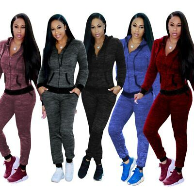 Sexy Sweater Sport Suit For Women Plus Size Fitness Ladies Jogging Tracksuits
