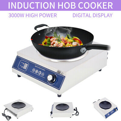 3000W Burner Electric Induction Cooktop Cooker Portable Touch Panel 220V-230V