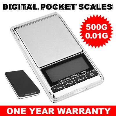 500g 0.01g Mini Electronic Pocket Digital Scales Weight Gold Jewellery AU ec
