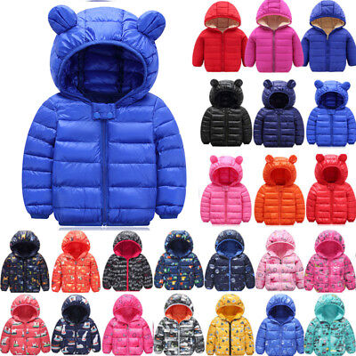 Winter Boys Girls Kids Quilted Puffer Coat Jacket Warm Snowsuit Clothes Outwear