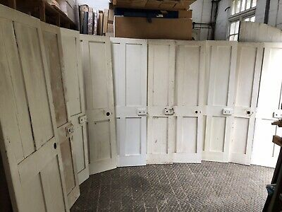 Matching Set Of Now 3 Reclaimed Antique Victorian 4 Panelled Pine Doors