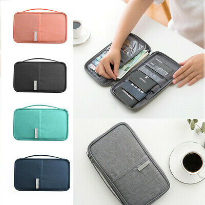 Family Travel Organiser Passport Document Holder ID Cards Tickets Wallet Pouch