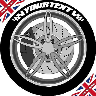 Custom Design Set Of 4 With Flags Tyre Stickers / Permanent /3D/ Tyre Lettering