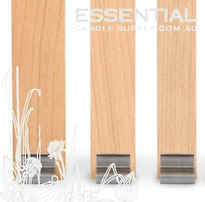 Wood Wick Size 1, 150mm long x 6.5mm, with Booster strip