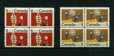 #522ii variety Cat$80 , #525 i Centre blocks Cat$40, Xmas Stamps '70 iss Canada