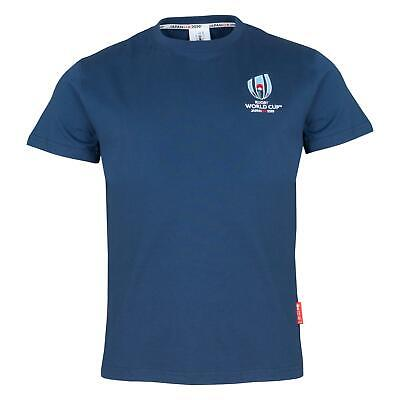 Rugby World Cup 2019 Mens Small Logo T-Shirt | Navy