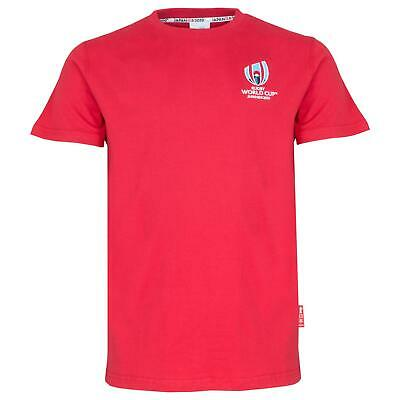 Rugby World Cup 2019 Mens Small Logo T-Shirt   Red