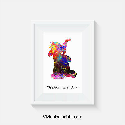 Winnie the Poo inspired, Lumpy, home decor, quote, art, minimalist poster