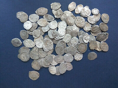 Lot of 10 Russia Wire Kopeks 16th-17th century Original SILVER  RARE coins