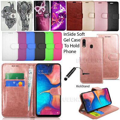 For Samsung Galaxy A20e A202F Wallet Leather Case Flip Book Cover + Touch Stylus