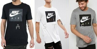 Nike New Mens T-Shirt Gym Cotton Sports Crew Neck Large Box Logo Size S M L XL!