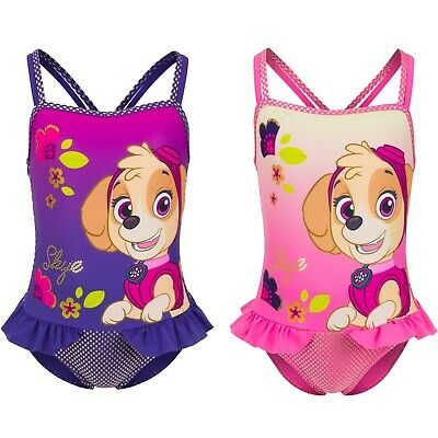 Girls SKYE Paw Patrol Character Swimsuit OFFICIAL MERCHANDISE