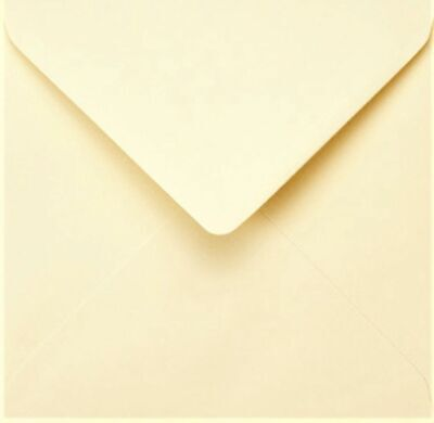 White Envelopes Square 5x5 130mm x 130mm 100gsm Gummed Flap 50 Pack by Cranberry