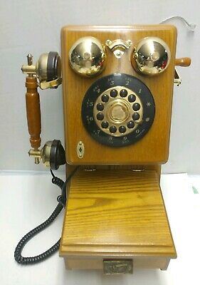Vintage Spirit of St Louis Replica Old-Fashioned Antique Wood Telephone - Nice!