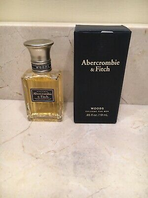 Abercrombie & Fitch WOODS Cologne Spray .65 fl oz for Men Vintage Fragrance-NIB