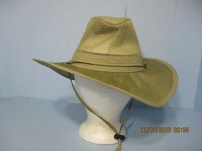7e71af00 The Original Panama Jack Mens Medium Outdoor Mesh Safari Fishing/ Boat Hat