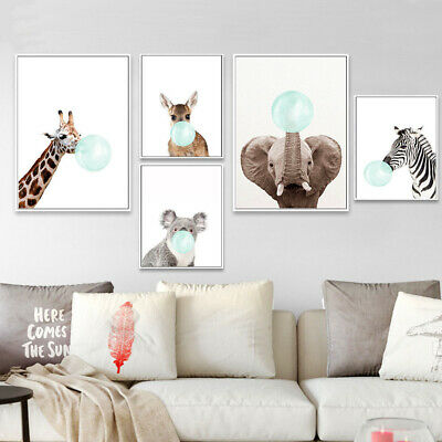Picture Baby Animal Poster Canvas Print Hanging Decoration Nordic Wall Painting