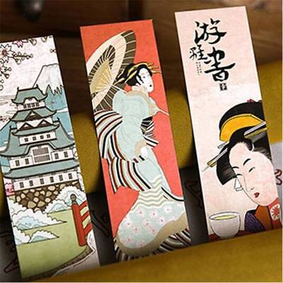 30pcs/lot Cute Paper Bookmark Vintage Japanese Style Book Marks  Kid SELL