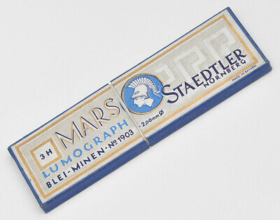 6 Staedtler Mars Lumograph 1903 3H 2.0Mm Mechanical Pencil Leads 50S
