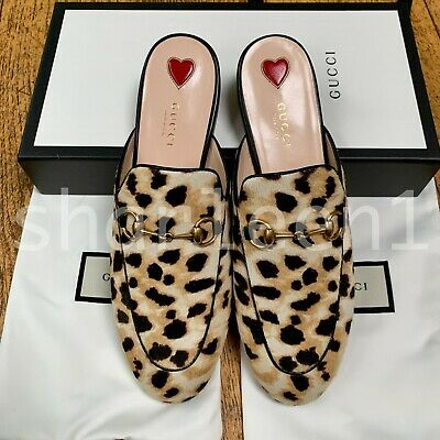 9ab07383698c GUCCI PRINCETOWN HORSEBIT leopard-print calf hair slippers loafers ...