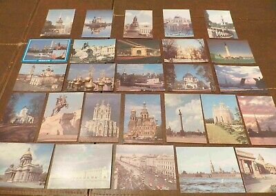 Lot of 25 Postcards (Lot 399) Russia St. Petersburg & Moscow