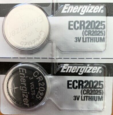 2 - Energizer CR2025 2Qt ECR2025 DL2025 Battery Free Shipping Authorized Seller
