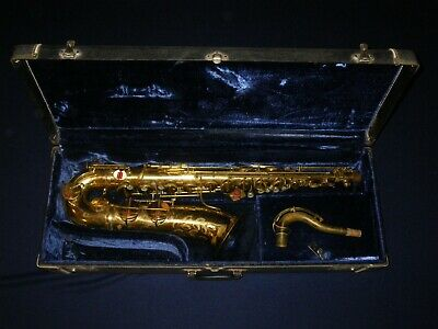 VINTAGE LINDELL Bb TENOR SAXOPHONE - FOR REPAIR - ALFONSO RAMPONE STENCIL