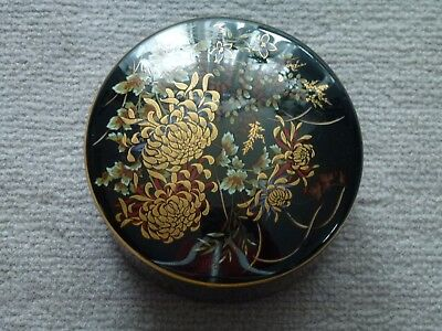"Keramikdose mit Deckel, Japan, ""Imperial KIKU"", typ. japan. Chrysanthemenmuster"